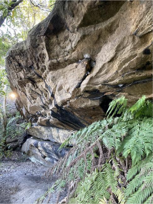 Wallumedegal Rock Shelter in Kelly's Bush, Hunters Hill.